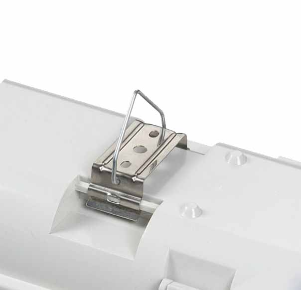 bracket for vapor tight fluorescent/ vapor tight light fixtures