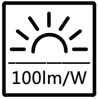 100lm/W