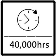 lifetime 40000 hours