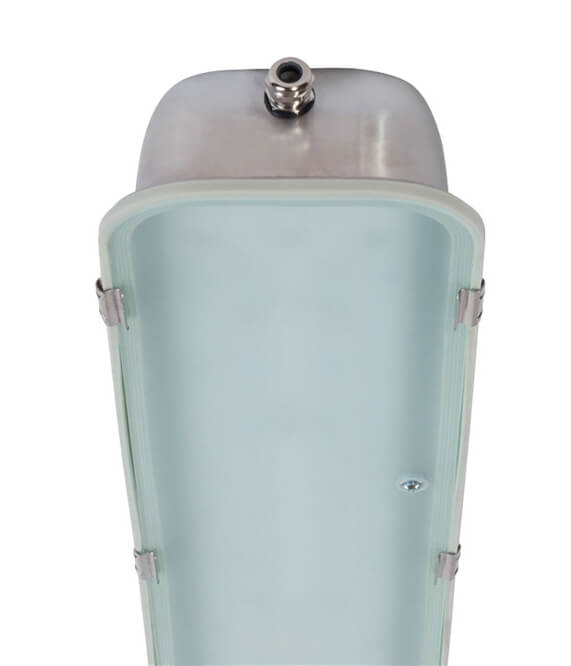 matt glass lens for industrial lighting/corrosion resistant vapor tight